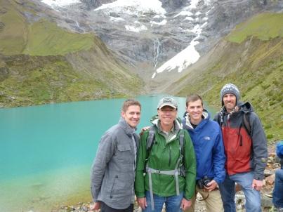 Lake Humantay at about 14,000 ft.